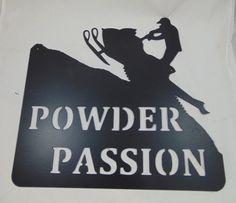 Custom Metal Snowmobile Sign Sled Powder by HazelnutHillbySherri