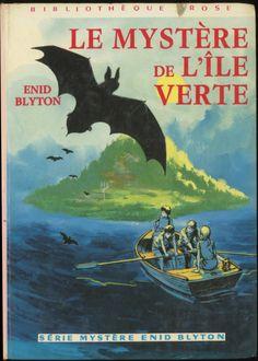 Jacques Fromont - Le Mystère de l'île verte (Série Mystère) - Enid Blyton, Hachette Bibliothèque rose 1975