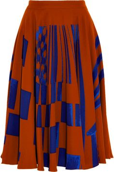 BOTTEGA VENETA  Printed crepe skirt $3,805