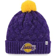 47 Women s Los Angeles Lakers Fiona Knit Hat edd901ca823