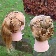 五角星⭐️花苞,适合孩子的发型 - 堆糖 发现生活_收集美好_分享图片