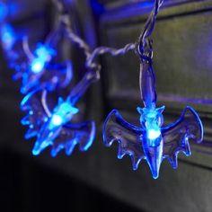 Halloween Lights, 20 Blue LED Bat Lights, Battery Operated, by Lights4fun: Amazon.co.uk: Lighting
