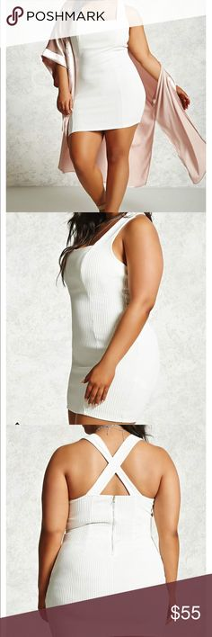 #SOLD! #Ribbed #BodyCon #Dress #Crossback White 2X #Ribbed #BodyCon #Dress #Crossback #White #Hot 2X  Flawless on and not see through at all! Dresses Mini