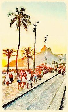Watercolor by @aquaRIOcolor waterlogue RESERVADO O DIREITO DE IMAGEM, NÃO COPIAR OU UTILIZAR SEM PRÉVIA AUTORIZAÇÃO All Rights Reserved ®