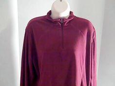 COLUMBIA Womens XL Maroon Fleece Shirt #COLUMBIA #fleece