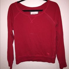 Red long sleeved shirt! Super cute red long sleeved shirt. Has been lightly worn but is super soft and comfortable. Abercrombie & Fitch Tops Tees - Long Sleeve