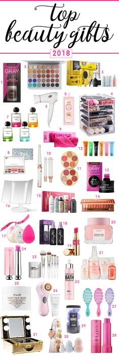 The top beauty gifts for 2018 | gift ideas for the beauty junkie | best beauty gifts | 30+ Gift Ideas for the Makeup Junkie in Your Life by southern blogger Stephanie Ziajka from Diary of a Debutante