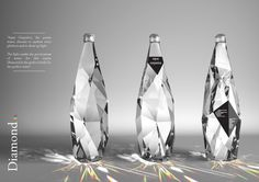Diamond Bottle.. Would sure love to have a drink amazing Packaging design creative