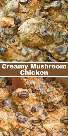 Creamy Mushroom Chicken is the perfect cold weather meal. Easy to make and delicious, your family will love this dish. FOLLOW Cooktoria for more deliciousness! If you try my recipes - share photos with me, I ALWAYS check!