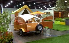 <b>SAY HELLO TOHÜTTE HUT:</b>  Santa Barbara's Sprouting Sprocket Studio is behind the little trailer that made a big splash at this year's Dwell on Design in Los Angeles.