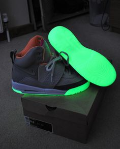 1936f46520a Nike Air Yeezy s glow in the dark!