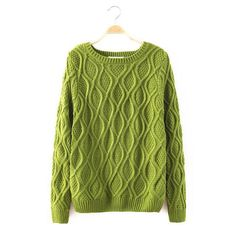 12 Color New Autumn Winter Women Cotton Elastic Twist Sweater Lady Knitted Long Sleeve O-neck Woolen Pullovers Casual Sweaters, Cardigans For Women, Long Sleeve Sweater, Trendy Outfits, Pullover, Clothes For Women, Sleeves, Cotton, American Women