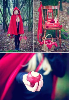 gorgeous red ridding hood photo shoot