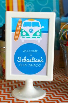 - A Surf Shack Birthday Party Inspired by Teen Beach Movie - like the gift tags 1st Birthday Boy Themes, 6th Birthday Parties, Birthday Party Decorations, Teen Parties, Leo Birthday, Birthday Celebrations, Teen Beach Party, Party Planning, First Birthdays