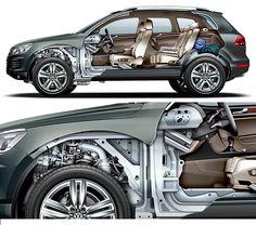 Volkswagen Touareg Technical Illustration Cars - Technical Illustration - Jim Hatch Illustration