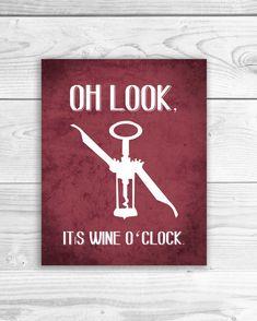 Wine Art Print Kitchen Sign Wine Quote Wine by SmartyPantsStudio, $16.00