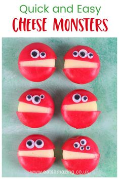 How to make quick and easy Babybel cheese Monsters for healthy kids party food and fun Halloween snacks Healthy Kids Party Food, Best Party Food, Food Art For Kids, Cooking With Kids, Healthy Halloween, Halloween Food For Party, Babybel Cheese, Easy Cheese, Food Print