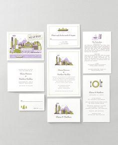 Seattle Wedding Savethedate Card Seattle wedding and Seattle