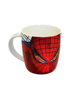 Spiderman Face White Mug - Now sip your coffee in Superhero style. !! Capacity of the Spiderman Face White Mug would be 300ml.