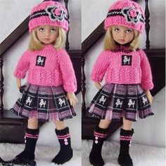 Sweater Skirt Hat Set Made for Effner Little Darling Similar Size 13''Dolls   eBay. Ends 1/30/14. Sold for $39.99