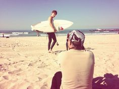 Twitter / brynmooser: Shooting a new series for Esquire with #BrandonBoyd on Venice Beach. It's gonna be epic!