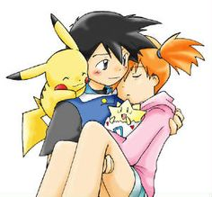 Ash and Misty (Pokemon) - I don't care how many Mays and Dawns appear-- she'll always be his first puppy love. :)