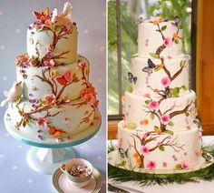 21 de bolos com borboletas para a festa de 15 anos - Constance Zahn | 15 anos