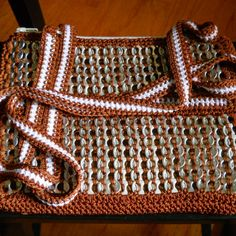 Burnt Orange and white large shoulder purse from TexasT treasures for $55 on Square Market
