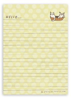 never stop writing letters. the owl and the pussycat letter pad, $6 at http://shop.boygirlparty.com