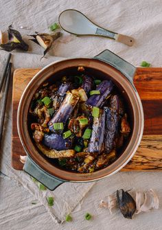 We have another classic recipe for you today, and we're very excited about it! This Cantonese eggplant casserole is not just another ho-hum eggplant dish.