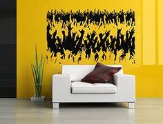 Wall Vinyl Sticker Decals Mural Room Design Pattern Rock Music Concert Hands Up bo264
