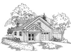 Garage Plan with 501 Square Feet and 0 Bedrooms from Dream Home Source | House Plan Code DHSW68844