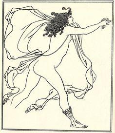 Apollo Pursuing Daphne - Aubrey Beardsley, 1896 - WikiPaintings.org