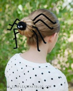 How To Make Spider Halloween Hairdo - DIY & Crafts - Handimania ...