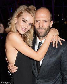 Jason Statham & girlfriend, Model/Actress Rose Huntington-Whitely