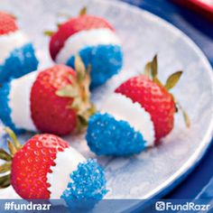 Easy 4th of July party food! Recipe found here http://www.pamspartyandpracticaltips.com/2011/06/4th-of-july-party-food.html