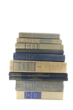 Blue and Tan  Book Set Vintage Decorative Book Set, Books by Color, Books for weddings