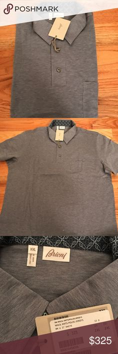 Brioni men's polo Brand new brioni men's polo if you have any questions feel free to ask Brioni Shirts Polos
