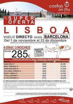 LISBOA desde Barcelona. Super Oferta Salidas Noviembre y Diciembre ultimo minuto - http://zocotours.com/lisboa-desde-barcelona-super-oferta-salidas-noviembre-y-diciembre-ultimo-minuto/
