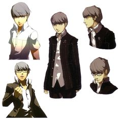 View an image titled 'Protagonist Concept Art' in our Shin Megami Tensei: Persona 4 art gallery featuring official character designs, concept art, and promo pictures. Game Character Design, Character Development, Character Concept, Character Art, Concept Art, Yu Narukami, Shin Megami Tensei Persona, Persona 4, Funny Art