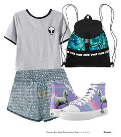 """Adventure Allie"" by adesigns123 on Polyvore featuring Chicnova Fashion, Paloma Blue and Zipz"