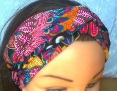 Turban  women   Headband   hair  wrap   colorful   head covering on Etsy, £7.31