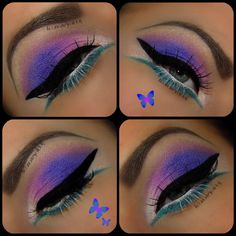 'Purple Passion' is again fully created with BFTE Cosmetics shadows ♥Glistening ♥Grape ♥Lovestruct ♥Illusion As base i used as usua a nice coat of NYX JEP milk. Lashes are De-Beauty lashes liner is essence liquid ink. Beauty Lash, Beauty Makeup, Makeup Style, Makeup Inspo, Makeup Inspiration, Fashion Inspiration, Purple Eyeshadow Looks, Makeup Designs, Eye Make Up