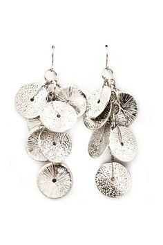 Silver Flake Earrings