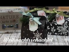 Zusammenfaltbare Weihnachtstasche | Adventskalenderidee | Weihnachten | Stampin' Up! - YouTube