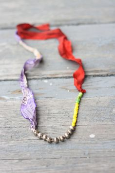 Ribbon and beads