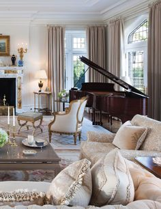 """The Elizabethan Manor House as noted in East Coast Home + Design magazine: """"A Modern Interpretation of a Classic English House"""""""