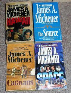 Four Paperback Novels by James A. Michner