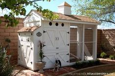 I love this chicken coop. It is great for a smaller yard and just a few chickens. It is also attractive and practical. I grew up with chickens in the back yard and fresh eggs in the morning. This coop would make having chickens again that much nicer! Chicken Coup, Chicken Coop Plans, Building A Chicken Coop, Building A House, Chicken Pen, Chicken Tractors, Walk In Chicken Coop, Chicken Eggs, Chicken Coops