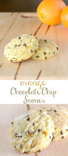 Recipe for Chocolate Chip Orange Scones - These Orange Chocolate Chip Scones are a family favorite! Brunch Recipes, Sweet Recipes, Breakfast Recipes, Scone Recipes, Pastry Recipes, Breakfast Pastries, Best Breakfast, Baking Scones, Orange Scones